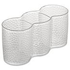 InterDesign® Rain Clear Cosmetic Trio Cups