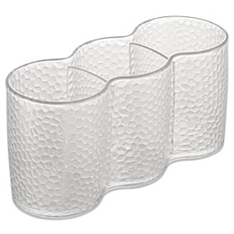InterDesign® Rain Clear Cosmetic Trio Cups