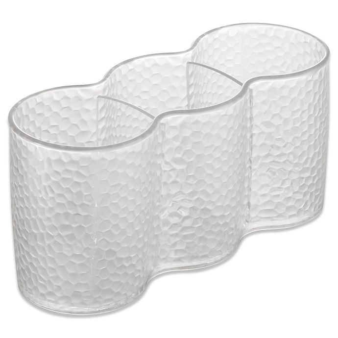 Alternate image 1 for InterDesign® Rain Clear Cosmetic Trio Cups