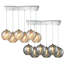 HGTV Home Watersphere 6-Light Pendant Light in Polished Chrome