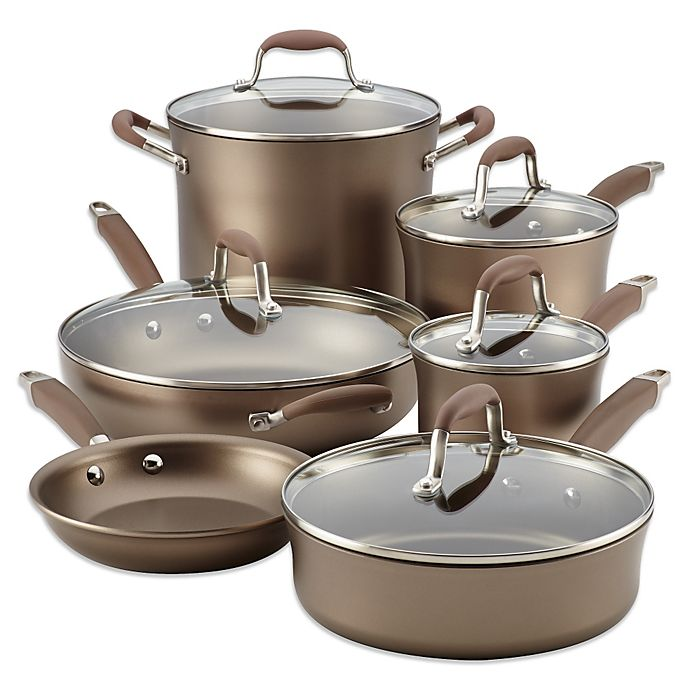Alternate image 1 for Anolon® Advanced Umber 11-Piece Cookware Set and Open Stock