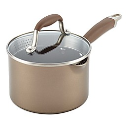Anolon® Advanced Umber 2 qt. Covered Straining Saucepan