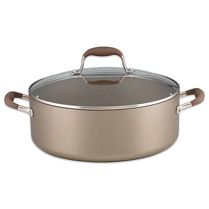 Alternate image 1 for Anolon® Advanced Umber 7.5 qt. Covered Wide Stock Pot