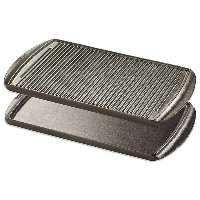 Alternate image 1 for Typhoon® Cast Iron Reversible Rectangular Grill Pan