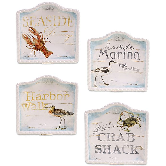 Certified International Beach Cottage 6 Inch Canape Plate