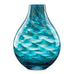 Lenox® Seaview 11-Inch Glass Swirl Bottle Vase in Blue