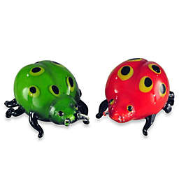 Art Glass 4.9-Inch Ladybugs Sculpture