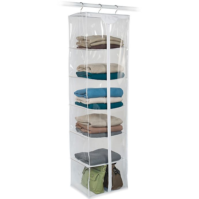 Alternate image 1 for Closetware Clear 6-Shelf Sweater Bag