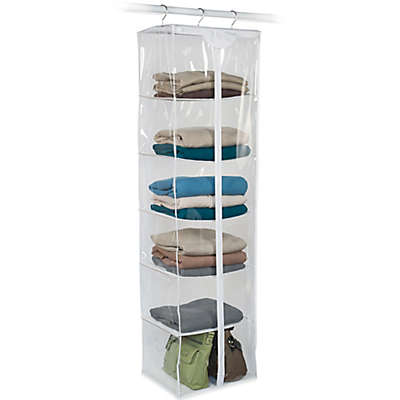 Closetware Clear 6-Shelf Sweater Bag