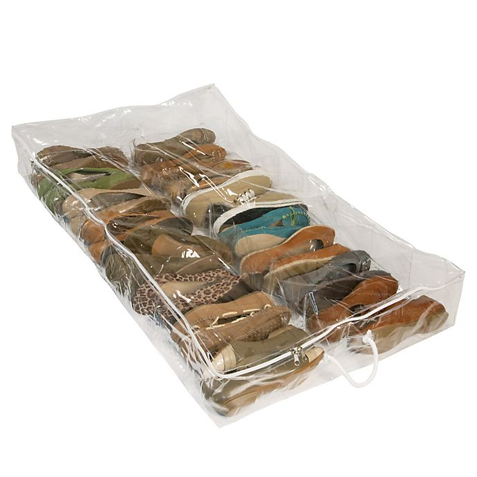 Alternate image 1 for Closetware Clear Underbed Shoe Organizer