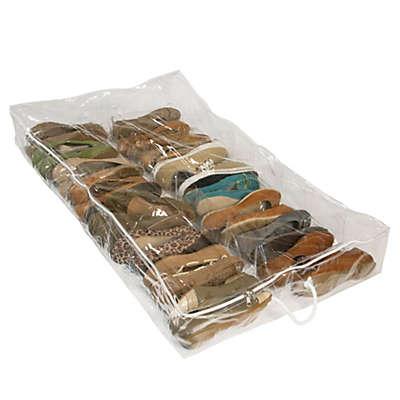 Closetware Clear Underbed Shoe Organizer