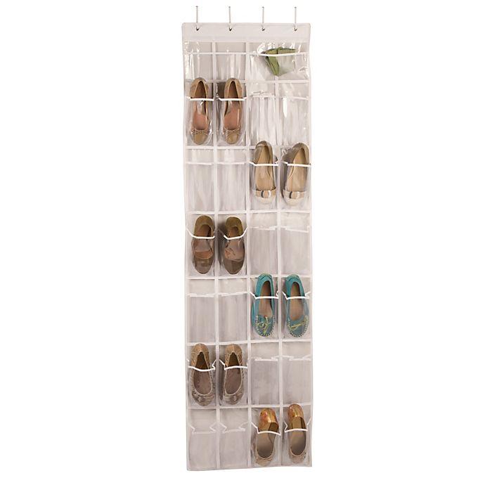 Alternate image 1 for Closetware Over-the-Door 24-Pocket Shoe Organizer