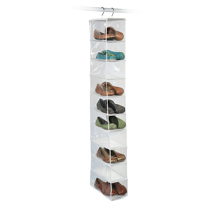 Closetware Clear 10 Pocket Shoe Organizer