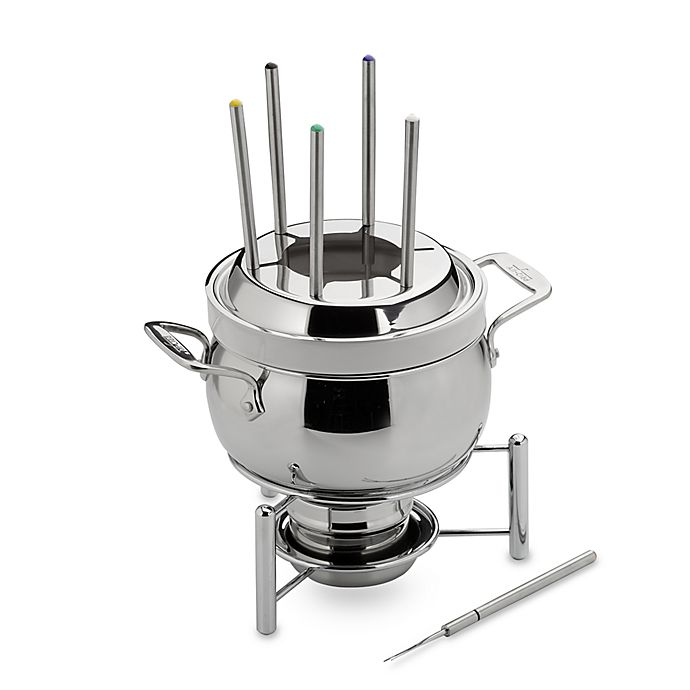 Alternate image 1 for All-Clad Stainless Steel 3-Quart Fondue Pot with Ceramic Insert