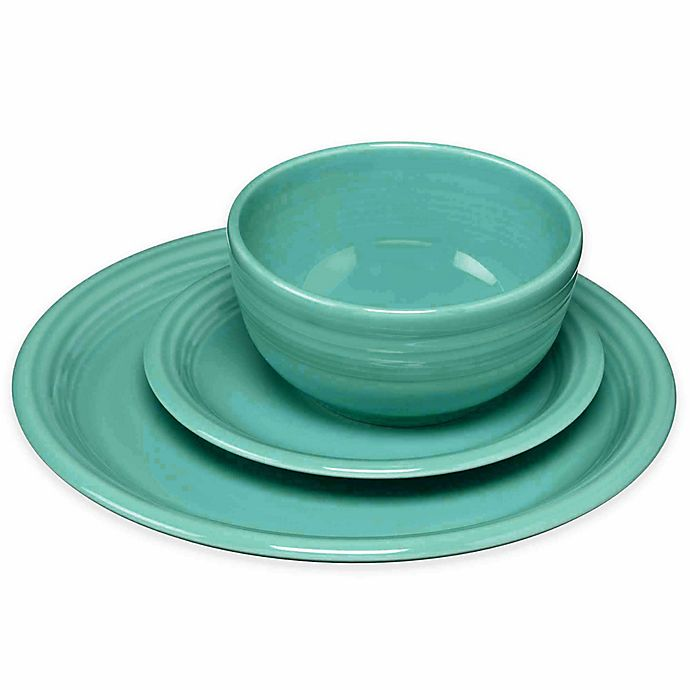 Alternate image 1 for Fiesta® 3-Piece Bistro Set in Turquoise