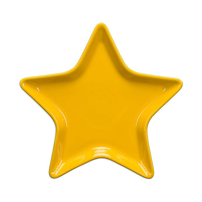 Alternate image 1 for Fiesta® Ceramic Star Accent Plate in Daffodil