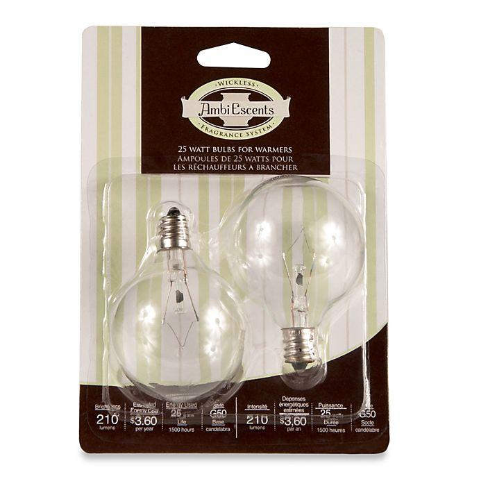 Alternate image 1 for Full Size Wax Warmer 25-Watt Replacement Bulbs (Set of 2)