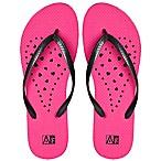Women's Small Heart AquaFlops Shower Shoes in Pink
