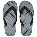 Unisex Medium Dotted AquaFlops Shower Shoes in Grey