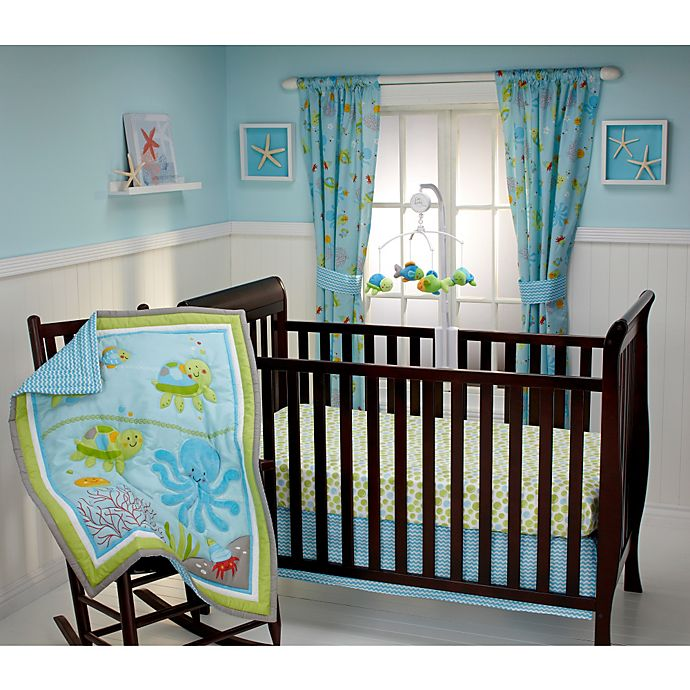 Alternate image 1 for Little Bedding by NoJo® Ocean Dreams 3-Piece Crib Bedding Set