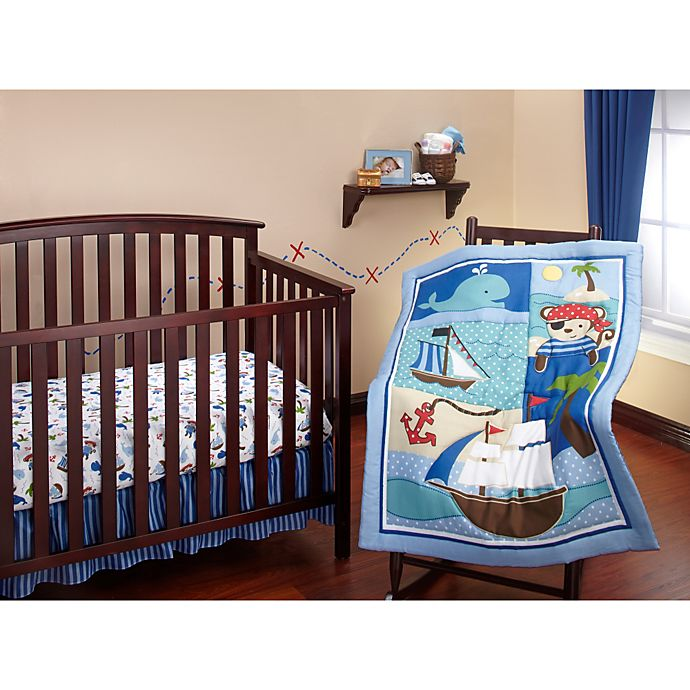 Alternate image 1 for Little Bedding by Nojo Baby Buccaneer Crib Bedding Collection