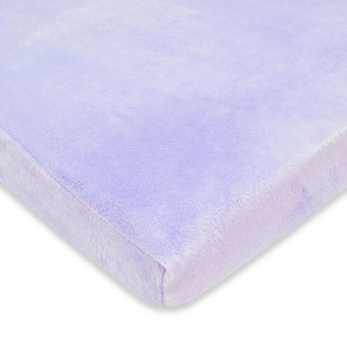 Alternate image 1 for TL Care® Heavenly Soft Chenille Fitted Crib Sheet in Lavender