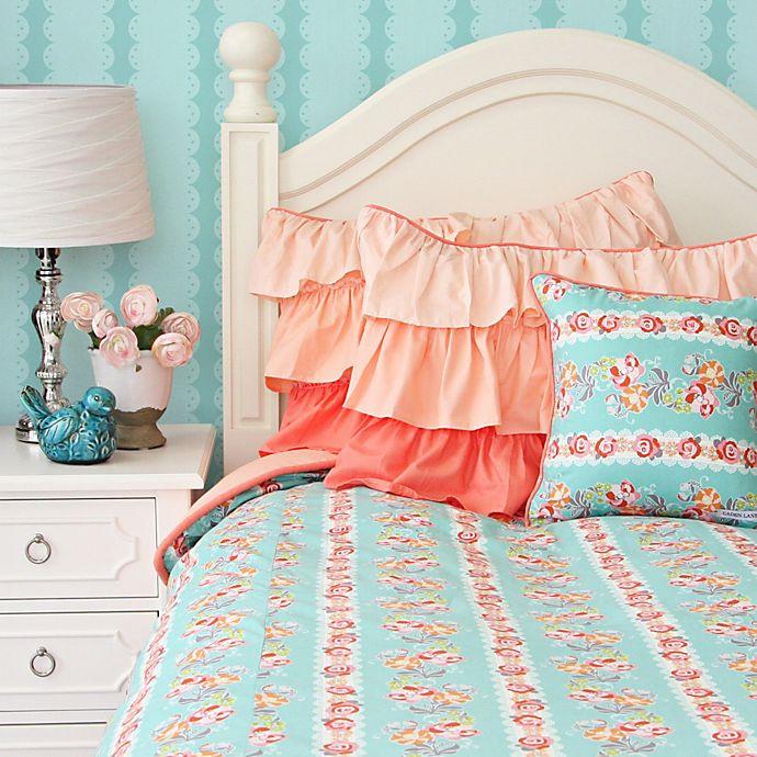 Caden Lane 174 Lovely Coral Lace Duvet Cover Bed Bath Amp Beyond