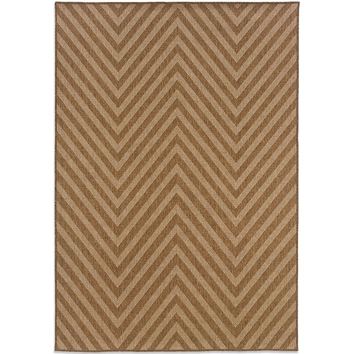 Alternate image 1 for Cabana Bay Kensey 7-Foot 10-Inch x 10-Foot 10-Inch Chevron Rug in Brown