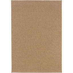 Cabana Bay Kensey Light Basketweave Rug in Brown