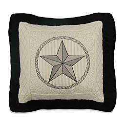 Donna Sharp Texas Pride Square Throw Pillow in Ivory