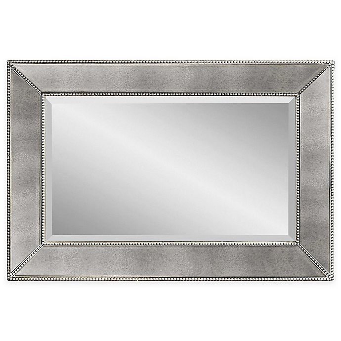 Alternate image 1 for Bassett Mirror Company Antique Beaded Mirror in Silver