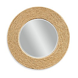 Bassett Mirror Company Palimar Wall Mirror with Sisal Rope