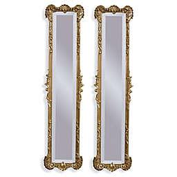 Bassett Mirror Company Helena 2-Panel 12-Inch x 50-Inch Mirror in Antique Gold