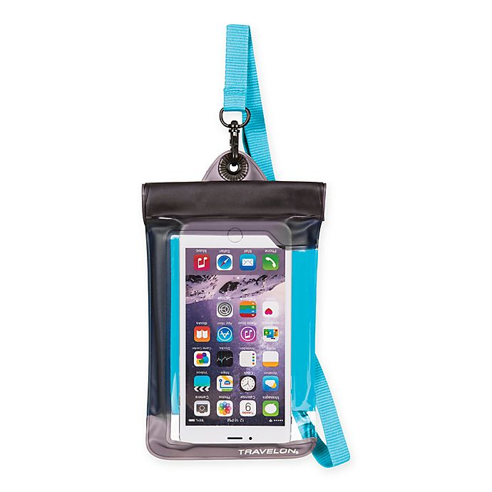 Alternate image 1 for Travelon® Waterproof Smart Phone/Digital Camera Pouch in Blue