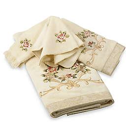 Avanti Rosefan Hand Towel in Ivory