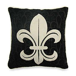Donna Sharp Fleur de Lis Scroll Decorative Pillow in Tan