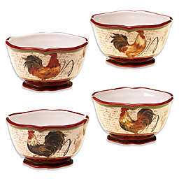 Certified International Tuscan Rooster 5.5-Inch Ice Cream Bowl (Set of 4)