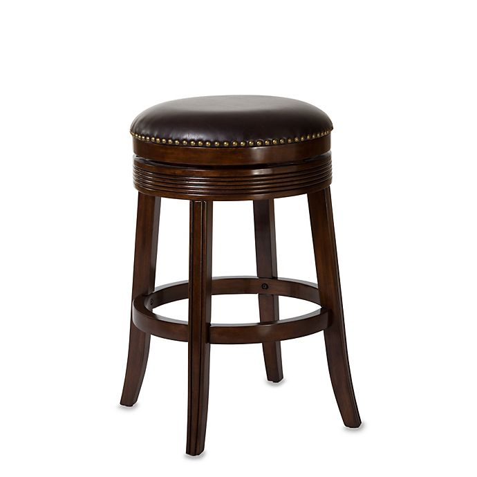 Hillsdale Tillman Backless Swivel Counter Stool In Brown