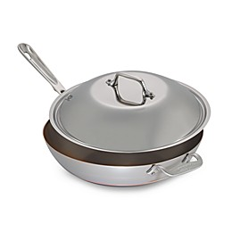 All-Clad Copper Core® 4 qt. Covered Chef Pan with Helper Handle