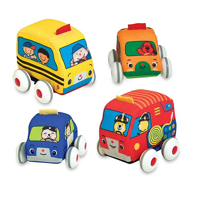 Alternate image 1 for Melissa & Doug® K's Kids® Pull-Back Vehicles