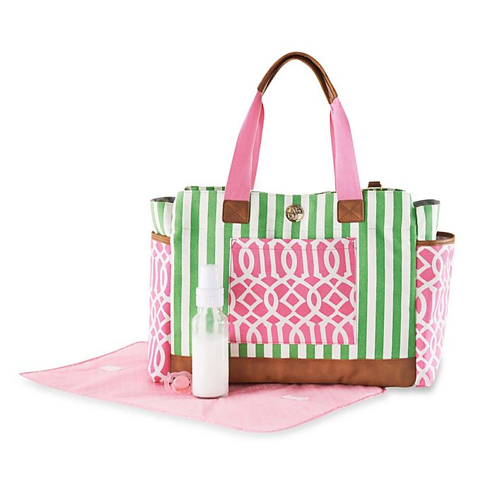 Mud Pie Ger Bundle Diaper Bag In Pink