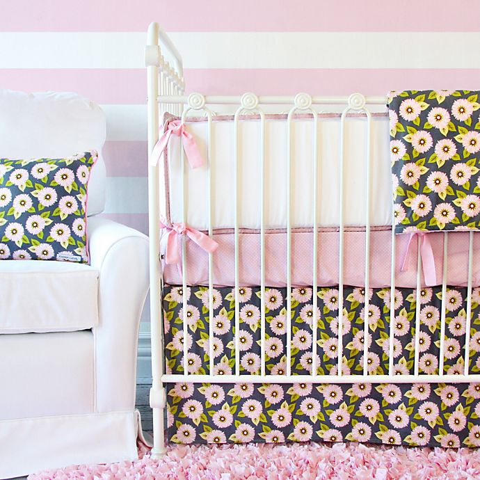 Caden Lane Pink Dahlia Crib Bedding