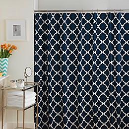 Jill Rosenwald Hampton Links Shower Curtain in Navy/White