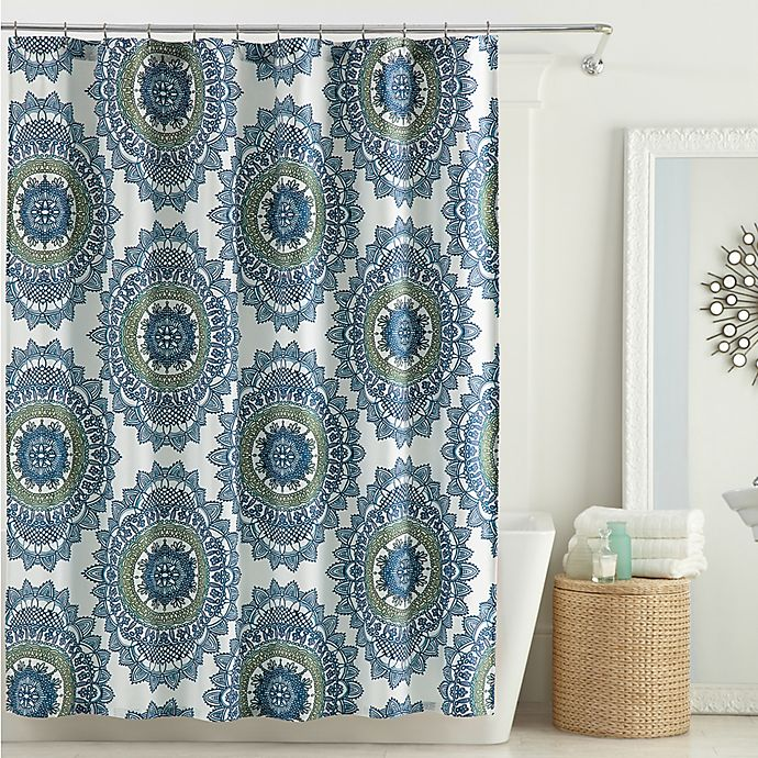 AnthologyTM Bungalow Shower Curtain In Teal