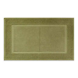 Wamsutta® Jacquard 20-Inch x 33-Inch Ring-Spun Cotton Bath Rug in Thyme