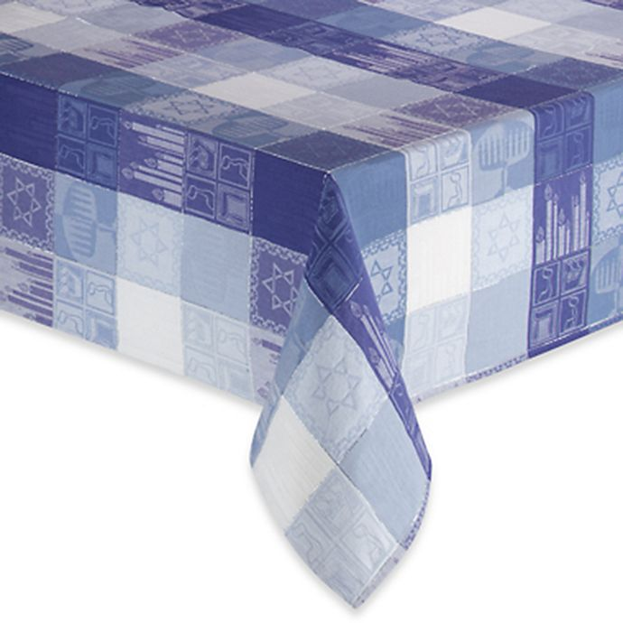 Alternate image 1 for Sam Hedaya Hanukkah Holiday Tablecloth