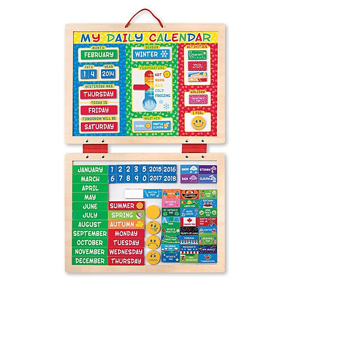 Alternate image 1 for Melissa & Doug® My First Daily Magnetic Calendar