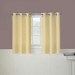 Hookless® Waffle 45-Inch Bath Window Curtain in Yellow