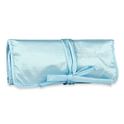 Ivy Lane Design™ Embroidered Bride Jewelry Roll in Blue