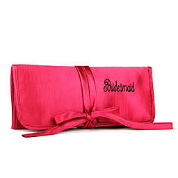 Ivy Lane Design™ Embroidered Bridesmaid Jewelry Roll in Pink